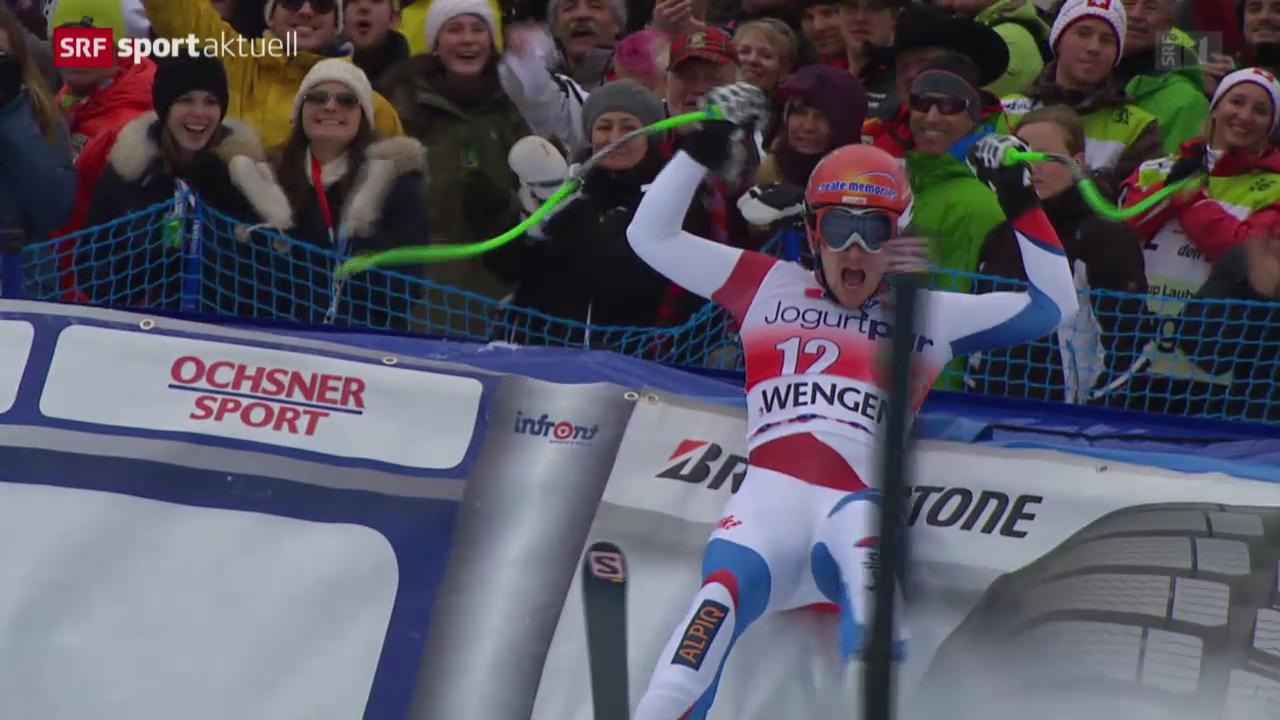 Ski: Abfahrt Männer in Wengen