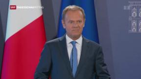 Video «Tusk stellt sich gegen Wünsche Grossbritanniens» abspielen