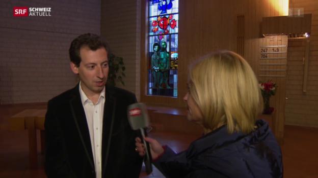 Video «Asylsuchende in Kirche in Winterthur und Sportzentrum in Huttwil» abspielen