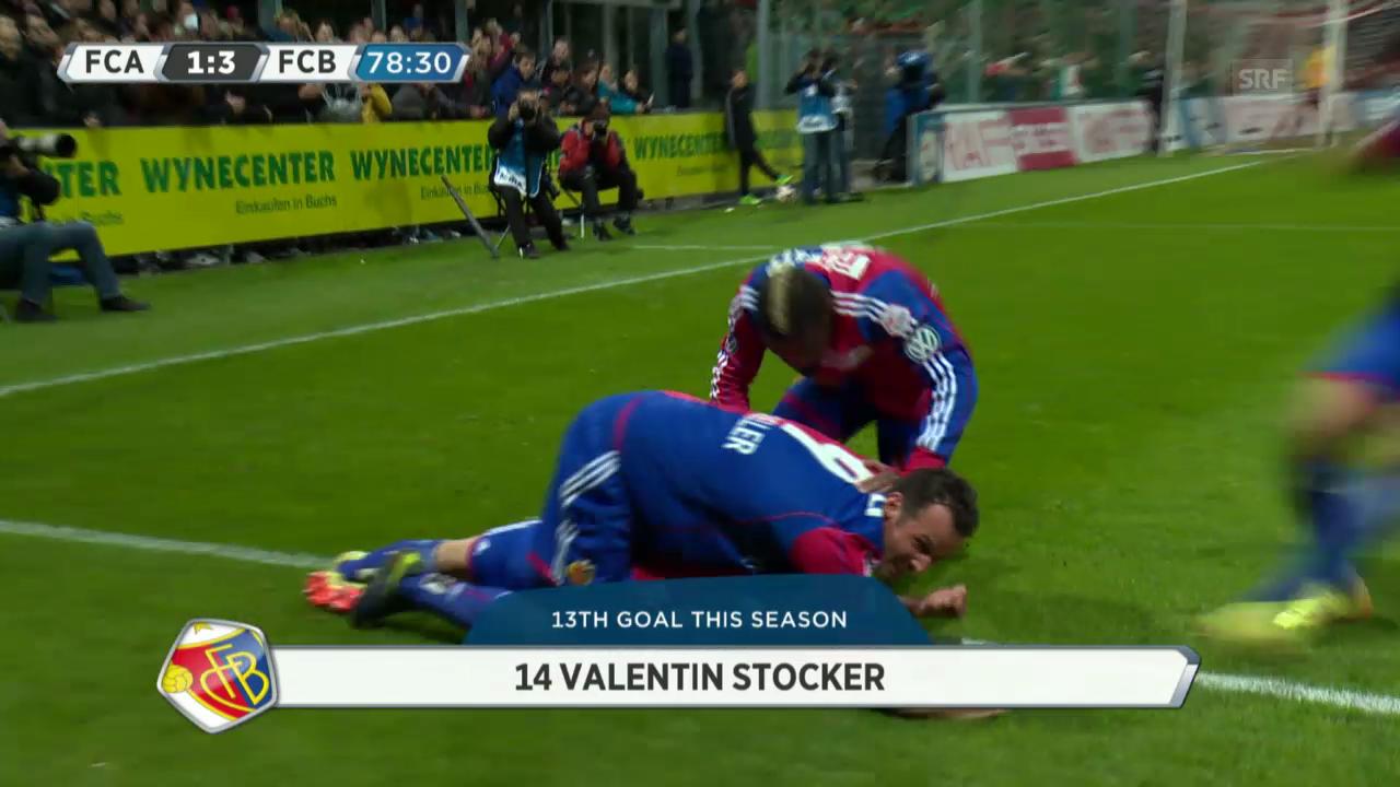 Fussball: Stockers Tor zum 3:1 gegen Aarau