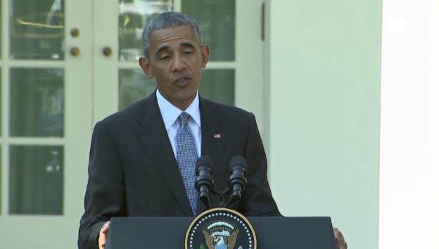 Video «US-Präsident Obama kontert Vorwürfe (unkomm.)» abspielen