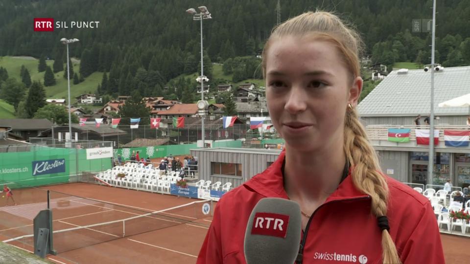 Simona Waltert – talent da tennis al turnier da junioras U18 a Claustra