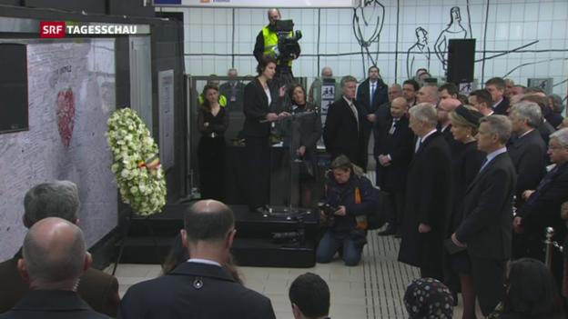 Video «Belgien gedenkt des Terrors» abspielen