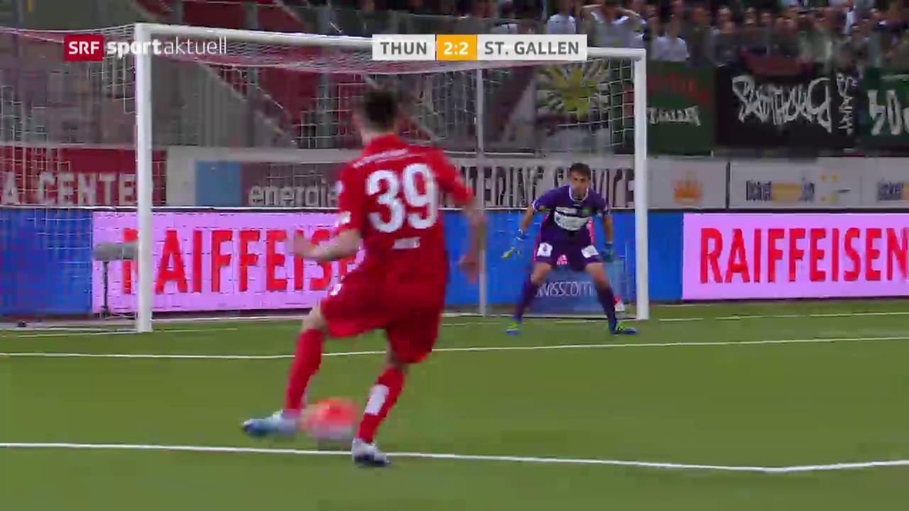 St. Gallen gibt Sieg in Thun aus der Hand