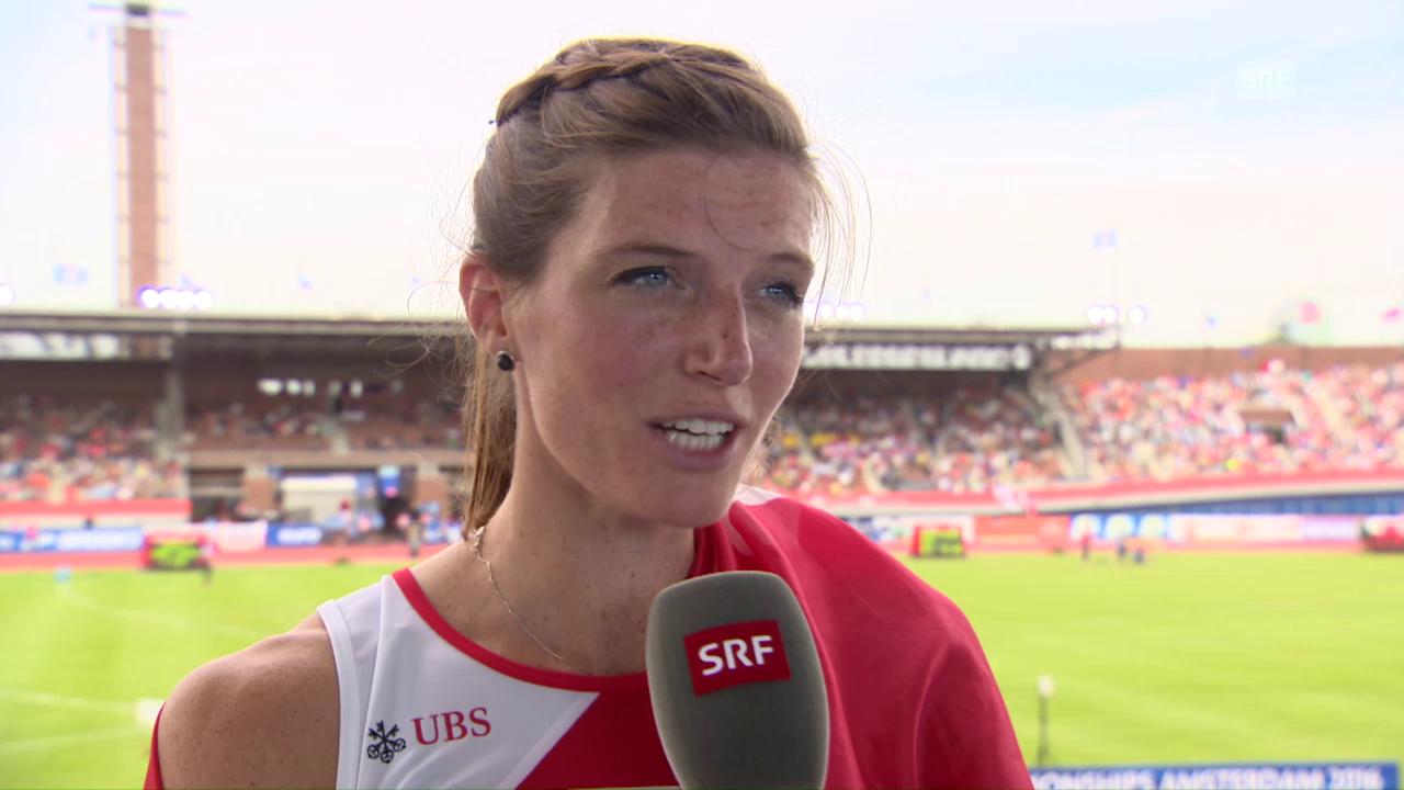 Lea Sprunger: «Ich wollte unbedingt die Medaille»
