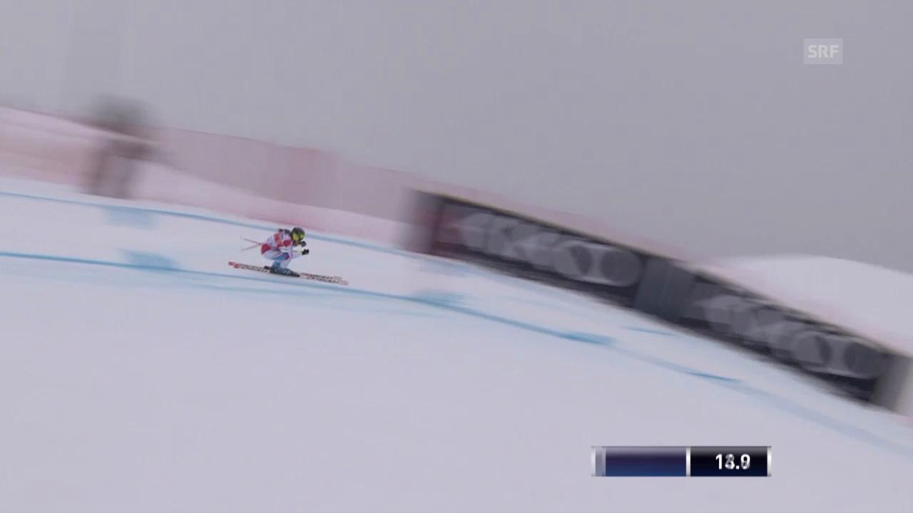Ski: Weltcup, Abfahrt Crans-Montana, Fahrt von Suter