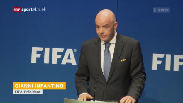 Video «Die Fifa beschliesst WM mit 48 Teams» abspielen