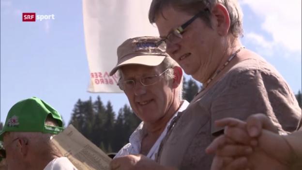 Video «Rad: Mathias Franks Eltern fiebern an der Tour de Suisse mit ihrem Sohn mit («sportpanorama»)» abspielen