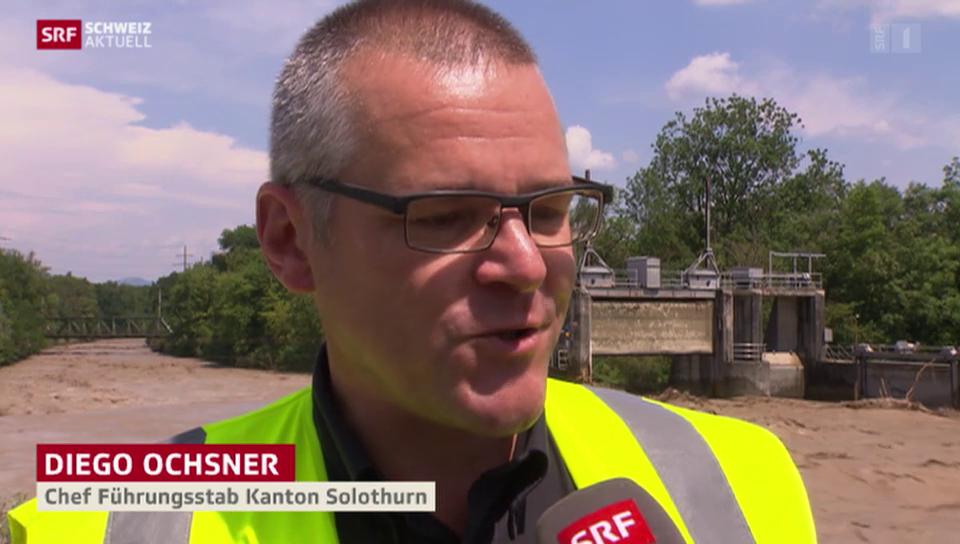 Hochwasseralarm auch im Kanton Solothurn