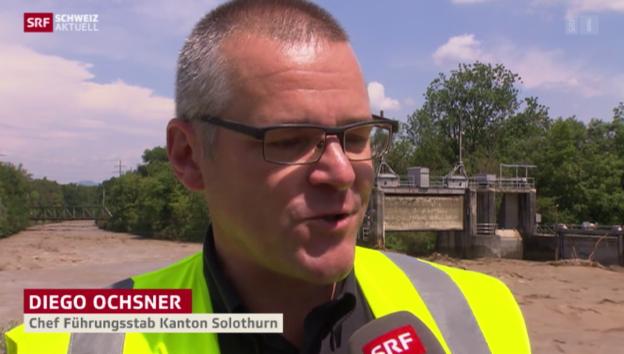 Video «Hochwasseralarm auch im Kanton Solothurn» abspielen