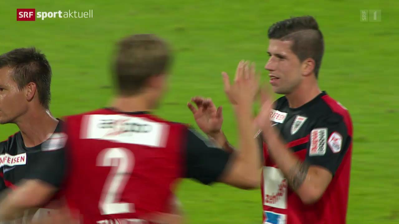 Fussball: Super League, Aarau - Thun