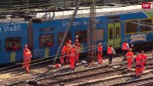 Link öffnet eine Lightbox. Video Zug im Bahnhof Bern entgleist abspielen