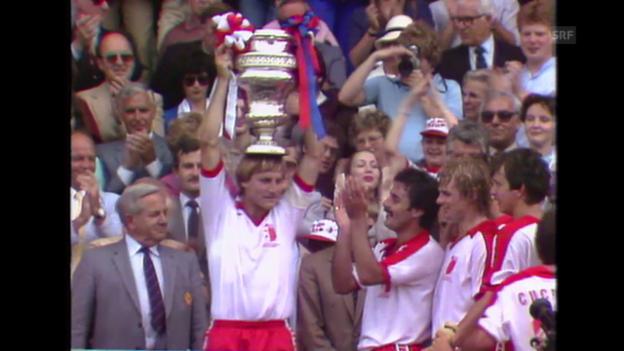 Video «Fussball: Schweizer Cup 1982, Final, FCB - Sion» abspielen