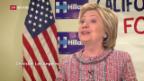 Video «Zweikampf zwischen Trump und Clinton» abspielen