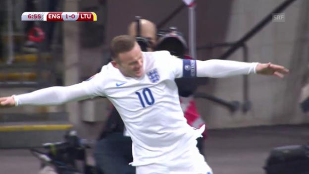 Video «Fussball: EURO 2016, Qualifikation, England - Litauen» abspielen