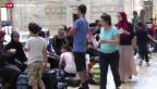 Video «Flüchtlinge aus Syrien stranden am Bahnhof in Mailand» abspielen