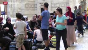 Video «Flüchtlinge aus Syrien stranden am Bahnhof in Mailand  » abspielen