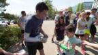 Video «Michel Fornasier: Der Prothesenträger lässt Promis schwitzen» abspielen