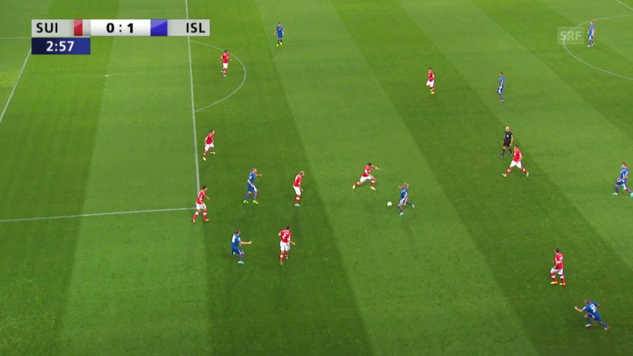 Fussball: Islands Birkir Bjarnason leitet gegen die Schweiz 2 Treffer ein («sportlive» vom 06.09.2013)