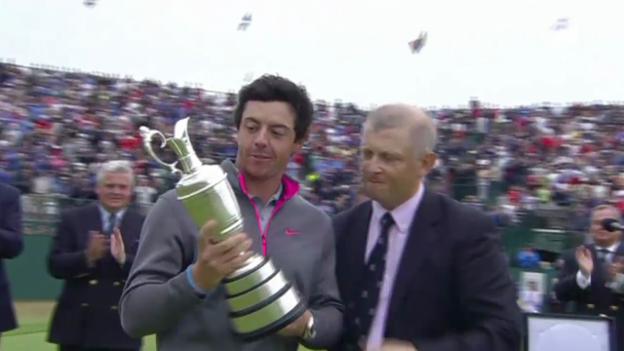 Video «Mcllroy gewinnt beim British Open (tagesschau am Mittag, 21.07.2014)» abspielen