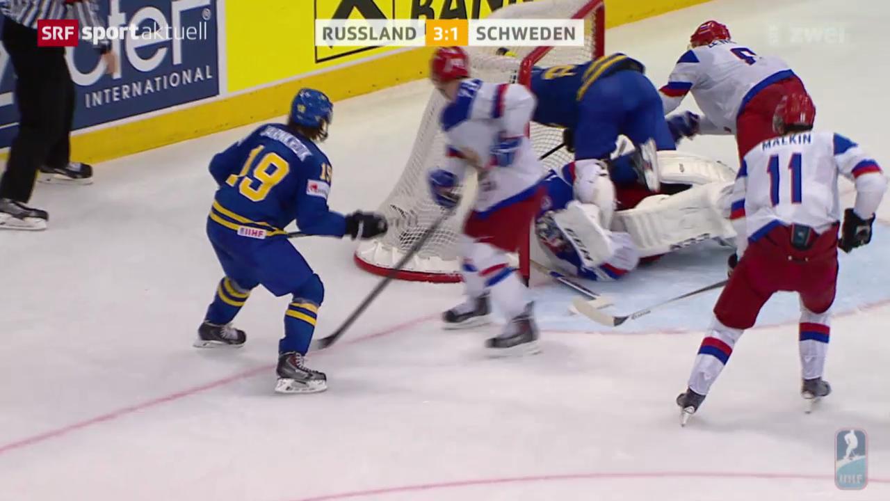 Eishockey: WM-Halbfinal Russland - Schweden