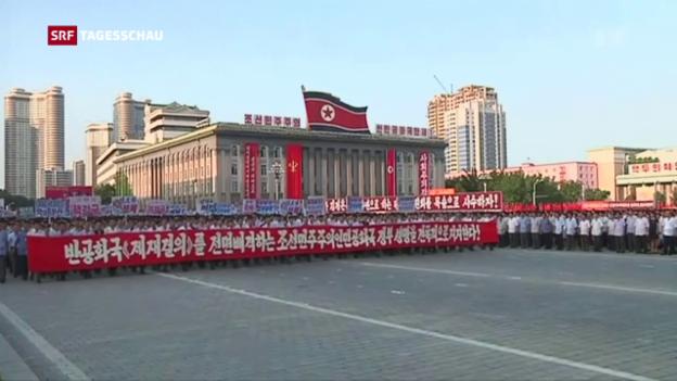 Video «Nordkorea droht mit Angriff auf Guam» abspielen