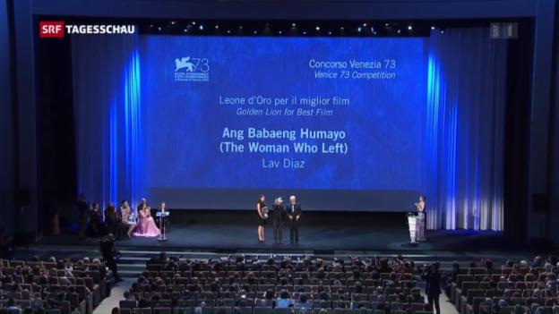 Video «Goldener Löwe geht an «The Woman Who Left»» abspielen
