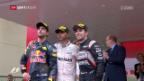 Video «Hamilton feiert 44. GP-Sieg» abspielen