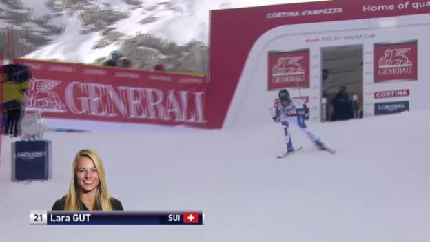 Video «Ski Alpin: Weltcp Cortina, Fahrt Gut» abspielen