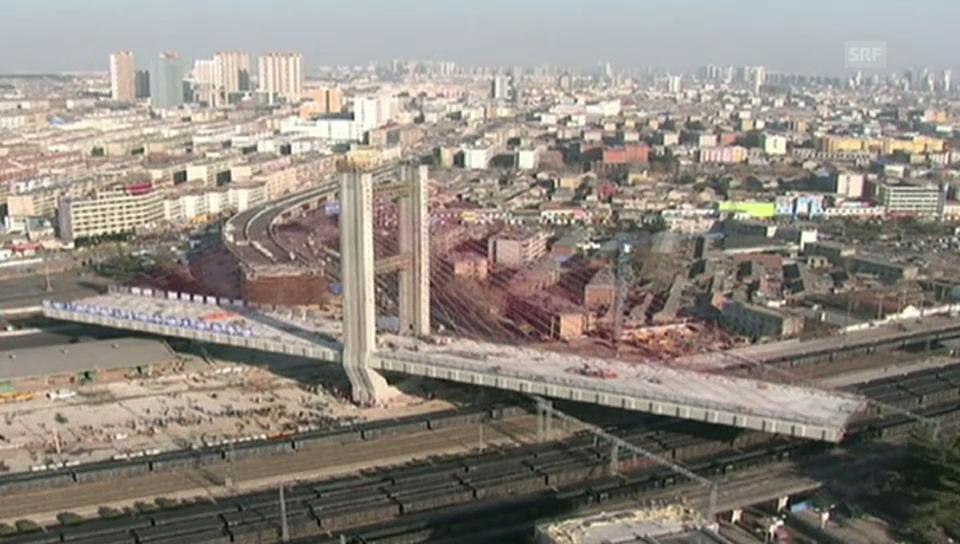 Drehung der Brücke im Zeitraffer