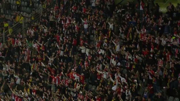 Video «Monacos Fans bejubeln BVB» abspielen
