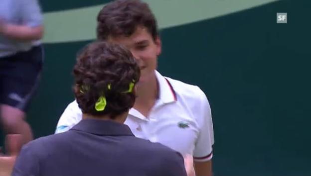 Video «ATP Halle: Zusammenfassung Federer - Raonic» abspielen