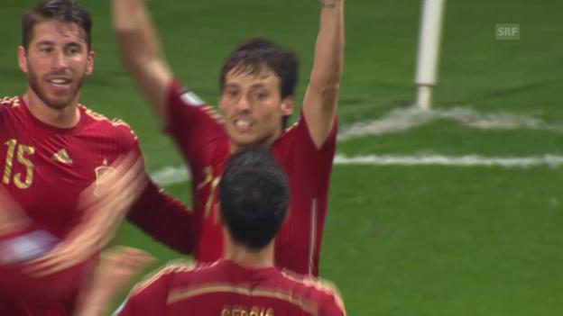Video «Fussball: EM-Quali, Tore Weissrussland - Spanien» abspielen