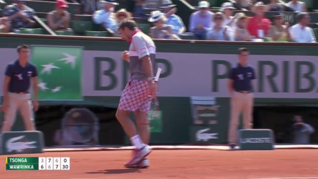 Video «Tennis: French Open Halbfinal, Live-Highlights Wawrinka - Tsonga» abspielen