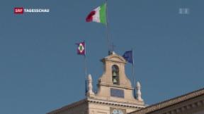 Video «Lega und 5-Sterne empört über Mattarella» abspielen