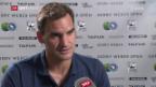 Video «Federer vor Halbfinal: «Chatschanow hat mich beeindruckt»» abspielen