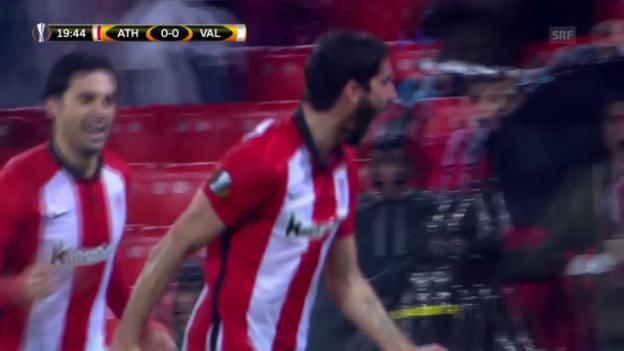 Video «Bilbao gewinnt Liga-Duell gegen Valencia» abspielen