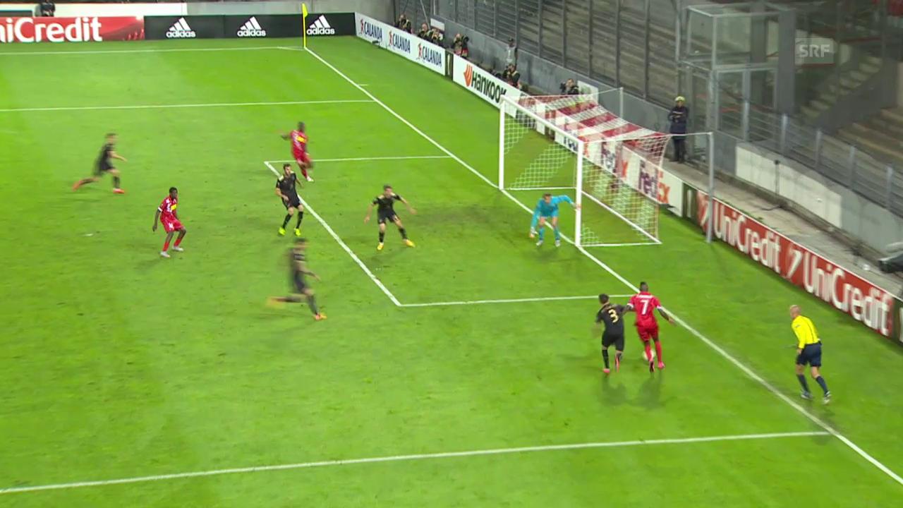 Fussball: EL, Sion - Kasan, Tor Sion zum 2:1