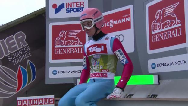 Video «Skispringen: Schanzenrekord von Stefan Kraft» abspielen
