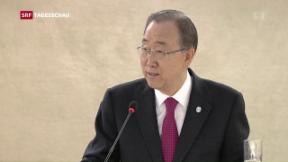 Video «Ban Ki Moons eindringlicher Apell» abspielen