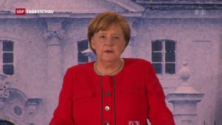 Video «Merkel sucht Lösung im Asylstreit» abspielen