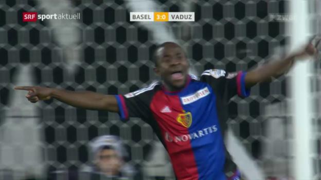 Video «6:0: Basel tankt gegen Vaduz Moral für Königsklasse» abspielen