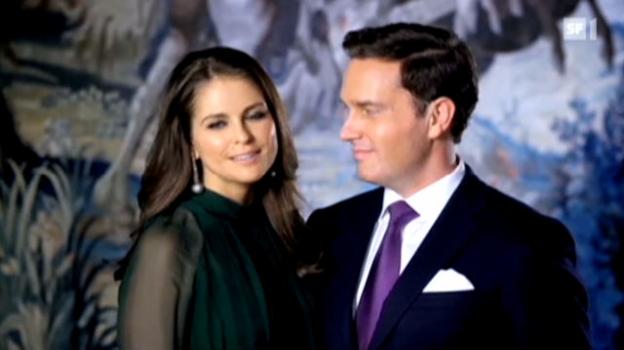 Video «Prinzessin Madeleine ist verlobt» abspielen