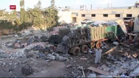 Video «Angriff auf UNO-Hilfskonvoi in Syrien» abspielen