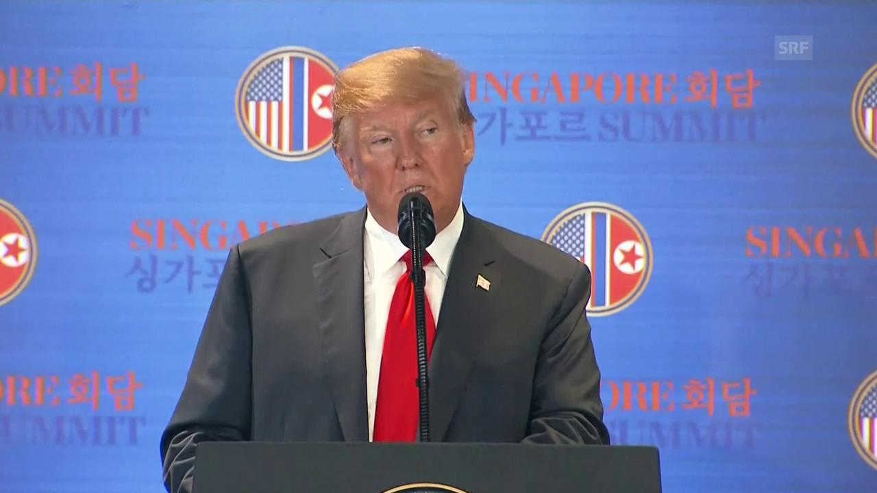 Trump zu den Punkten in der Vereinbarung