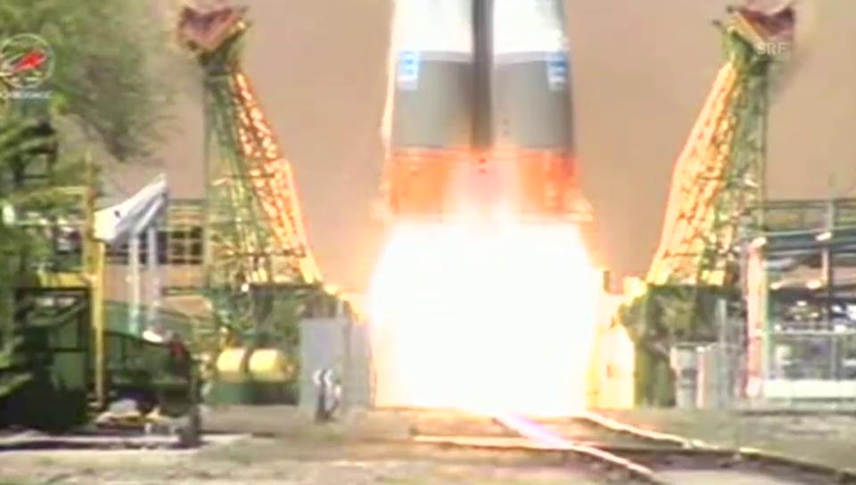 Der Start der fehlgeleiteten Sojus-Rakete