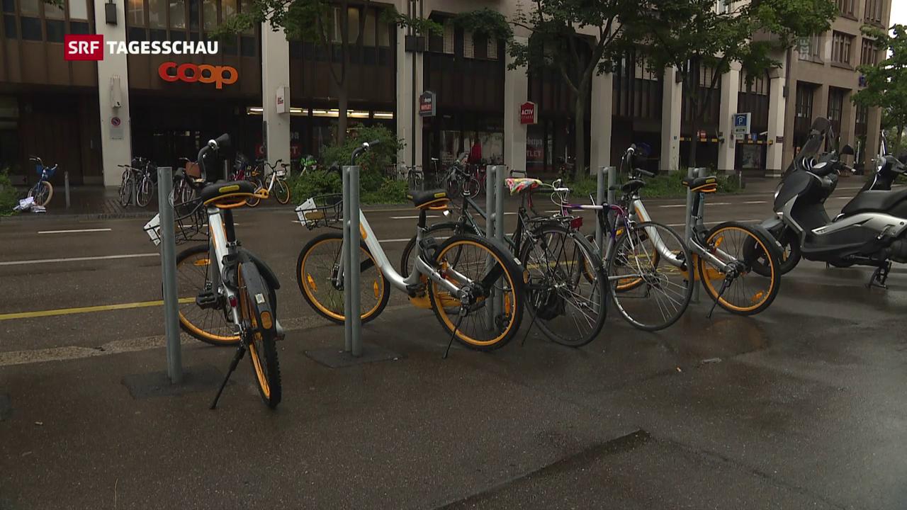 Umstrittene Leihvelos in Schweizer Städten