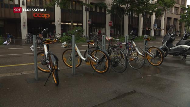 Video «Umstrittene Leihvelos in Schweizer Städten» abspielen
