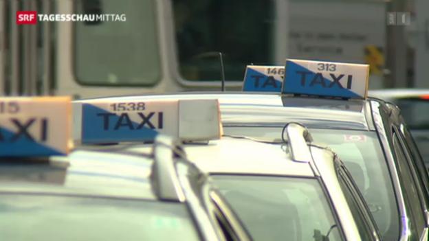 Video «Zürcher Taxifahrer streiken» abspielen