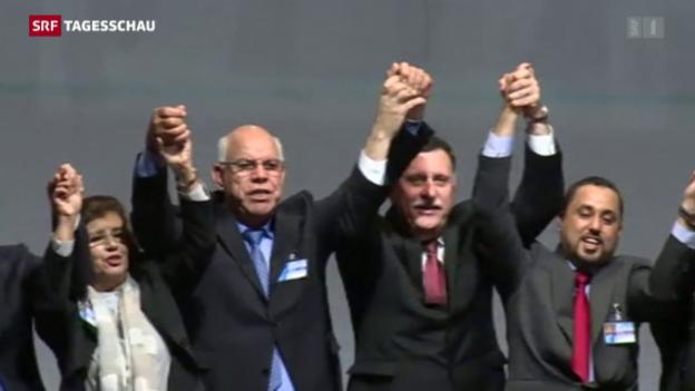 Video «Konfliktparteien in Libyen einigen sich auf Friedensplan» abspielen
